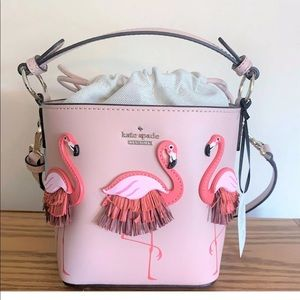 Kate spade flamingo pippa by the pool bucket bag